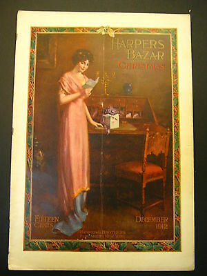 Harper's Bazar December 1912 CHRISTMAS original magazine in great condition