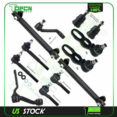 12 Front Ball Joint Tie Rod Ends Idler Pitman Arms For 94-02 Ford Crown Victoria