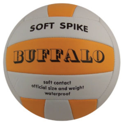 Buffalo Sports Soft Spike Volleyball - Official Size & Weight (Voll029)
