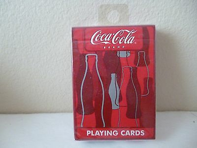 Coca-Cola Playing Cards     Coke Bottle Outlines     By  Bicycle   Sealed Deck