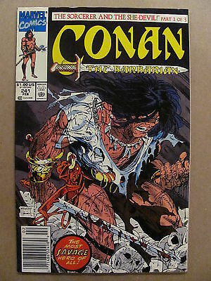 Conan The Barbarian #241 Marvel Todd McFarlane Cover Newsstand Edition 9.2 NM-