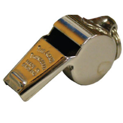 Acme Large Thunderer Whistle W/ Ring 58.5 - Solid Brass Pea Whistle (Whi017)