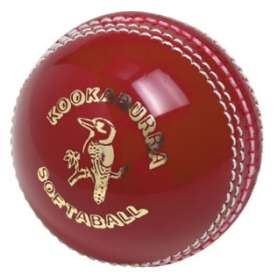 Kookaburra Softaball Cricket Ball - Red - Moulded Plastic Cover (Crick034)