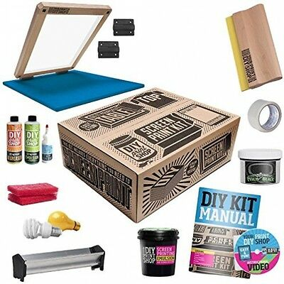 Screen Printing Starter Kit DIY Custom T-Shirt Design Table Top Set Press Shop