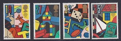 Mint 1989 Gb Games And Toys  Set Of 4  Muh Stamps