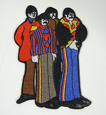 The BEATLES Figures - Yellow Submarine - Embroidered Iron-On Patch - 3 1/2""