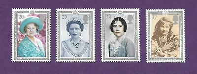 MINT 1990 GB 90th BIRTHDAY QUEEN MOTHER SET OF 4  MUH STAMPS