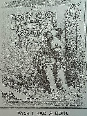 Vintage MORGAN DENNIS AIREDALE TERRIER DOG  ART PRINT Free Shipping!