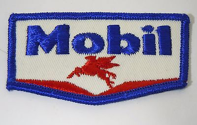 """MOBIL OIL & GAS Embroidered Sew On Uniform-Jacket Patch 3.5"""""""