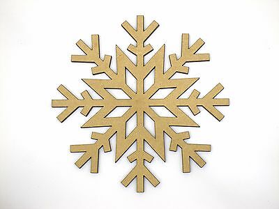 Eight 10cm Mixed Snowflake Craft Wood 3mm MDF For Your Frozen Christmas Needs