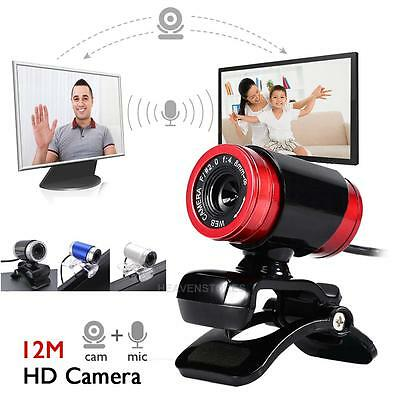 USB 2.0 1080P HD WebCam Web Camera Video with Mic 360°for MSN Skype Desktop PC