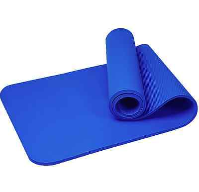 10MM Non Slip Yoga Mat Exercise Workout Fitness Physio Pilates Gym Cushion Thick