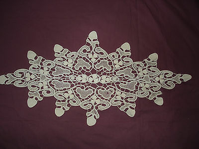 #862  Beautiful Vintage Handmade  Lace Motif       25''/11.5''(63cm/29cm)