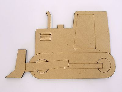 One MDF Wooden Bulldozer Shape 15cm High Kids Craft DIY Paint Mobile