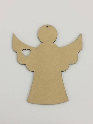 Five (5) x 10cm MDF Wood Angels Craft 3mm MDF Ready To Prime and Paint