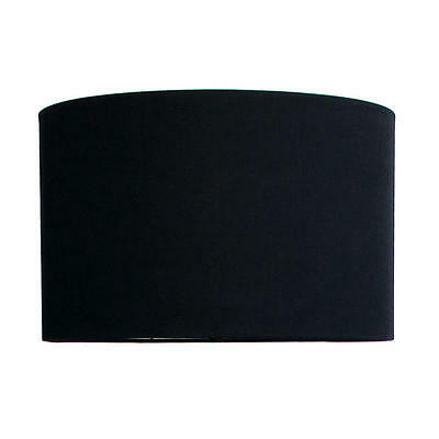 Accessories: Lamp Shade Large 16‐16‐14 E27 Black Linen Oriel Lighting OL91806