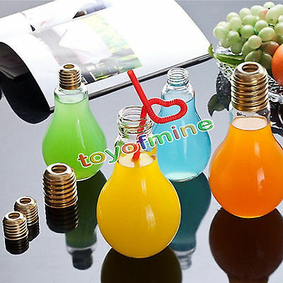 Fashion Plastic Light Bulb Shaped Bottle Drink Cup Water Bottle Party Deco