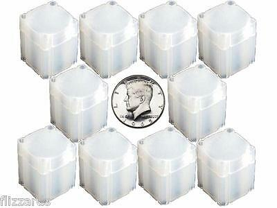 Half Dollar Square Coin Tube Storage, Numis Brand, 30.6mm, 10 pk
