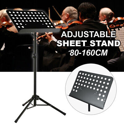 Adjustable Stage Stand Heavy Duty Large Metal Music Sheet Conductor Folding  AU