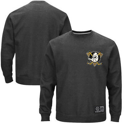 Mighty Ducks Majestic NHL Stelker Crew Jumper - Charocal