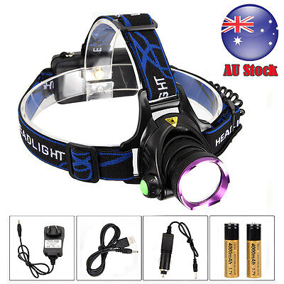8000LM XM-L T6 LED HeadLamp Torch Rechargeable HeadLight 18650 Fishing Lamp+USB