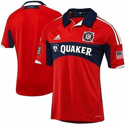 more photos 4c41e af492 NEW ADIDAS CHICAGO Fire Authentic Home Soccer Jersey USA MLS MRSP $120