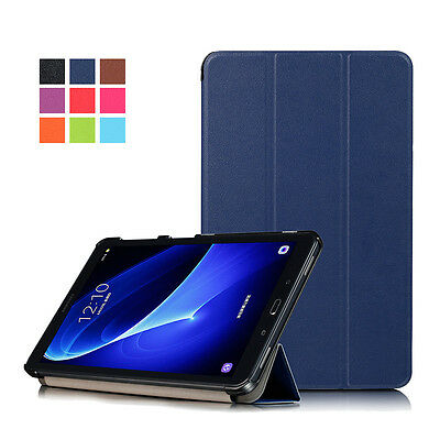 Trifold Leather Magnetic Stand flip Folio Case Cover for Samsung tab S3 A S2 E J