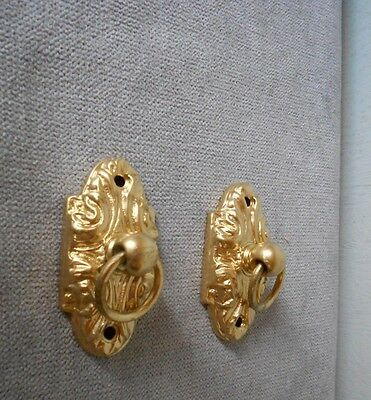 Pair of  Antique French BRONZE HANGERS RINGS