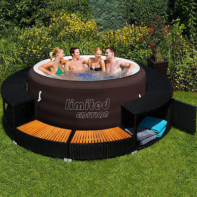 Bestway Lay-Z-Spa Jacuzzi Whirlpool + Poolumrandung Poolverkleidung Rahmen Pool