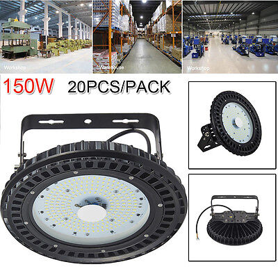 20X150W UFO LED High Bay Light Gym Factory Warehouse Industrial Shed Lighting