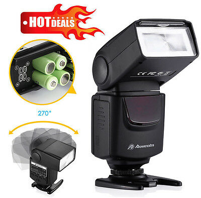 LED TTL Flash Speedlite Light For Canon EOS Nikon DSLR Camera D3200 D5200 D3100