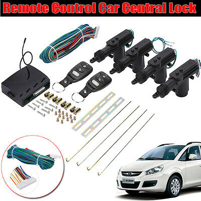 4 Door Remote Control Car Central Locking Security System Keyless Entry Kit AU