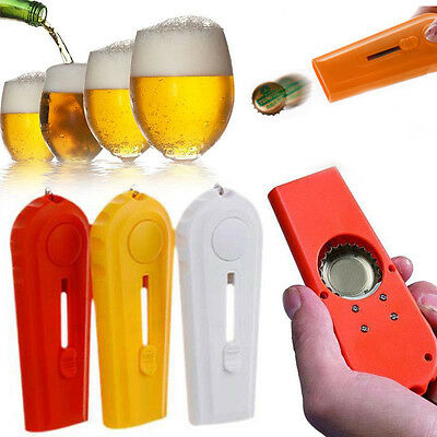 Cap Launcher Key Ring Capsule Flying Cap Zappa Bottle Beer Opener Tool Gadgets
