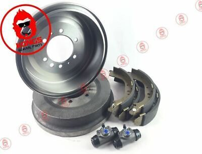 Rear Brake Drums + Shoes + Wheel Cylinders Pack Toyota Landcruiser Hj60 1980-90