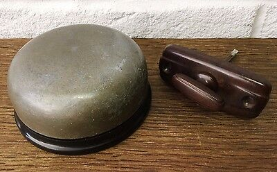 English Everite Period *Manually/Hand Operated Non Electric* Bakelite Door Bell