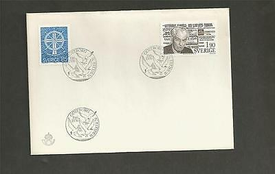 SWEDEN - 1976 The Seamen´s Church and Torgny Segerstedt - FIRST DAY COVER