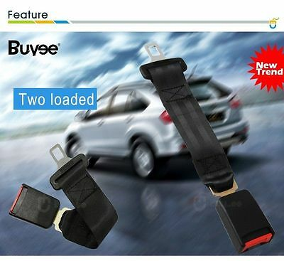 2X 36cm Auto Car Seat Belt Extension Extender Safety Support 2.1cm Buckles CA