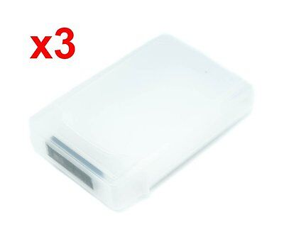 "3pcs 3.5"" HARD DISK DRIVE HDD PROTECTION STORAGE BOX CASE TANK White"