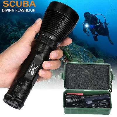 10000 Lm Underwater 200M 3xXML-T6 LED 26650 Scuba Diving Flashlight Torch lamp