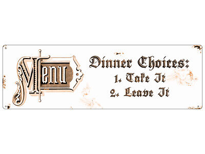 Metallschild DINNER CHOICES shabby chic Schild antik Küche Blechschild Vintage