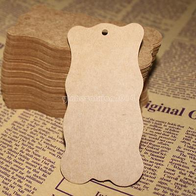 100pcs 50x100mm Wholesale Jewelry Clothes Craft Price Tags Kraft Paper Label