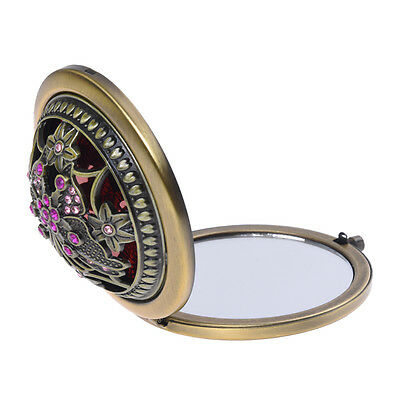 AF Eastern Classic Bronze Retro Compact Pocket Illuminated Beauty Make up Mirror