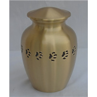Pet Urn Large Bronze with Paws