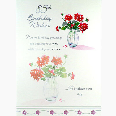 85th BIRTHDAY CARD Birthday Wishes LOVELY Happy GREETINGS Card