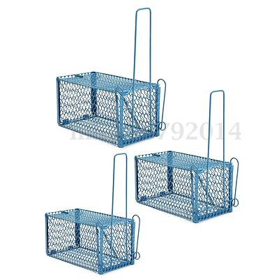 Metal Mouse Live Trap Rat Rodent Snap Catcher Bait Humane Cage Indoor Outdoor UK