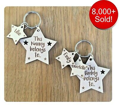 Personalised Fathers Day Gifts For Daddy Dad Grandad Grandpa Uncle Keyring Gifts