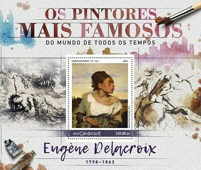 Z08 IMPERFORATED MOZ16527b MOZAMBIQUE 2016 Eugene Delacroix MNH Mint