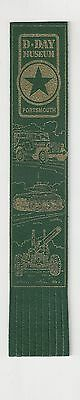 D-Day Museum. Green Leather English Bookmark.