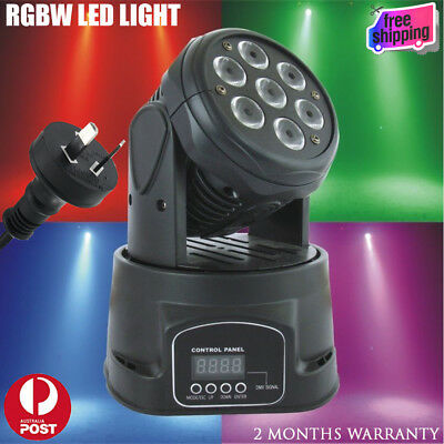 10W RGBW 4in1 LED Moving Top Disco Party Head Light Club DMX DJ Stage Lighting
