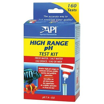 API High Range pH Liquid Water Test Kit Tropical Coldwater & Marine Aquarium